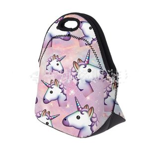 Unicorns Bags Bag Picnic Print Insulation Neoprene Fashion Tote Lunch Mother Lunch Insulated Bag Waterproof Baby Storage Cooler Orvvc