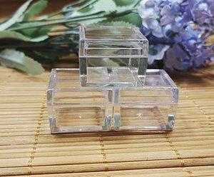 20pcs / lot, 5 g de crema tarro de la caja envase cosmético forma cuadrada, la botella de ojos contenedor de visualización plástico sombra compacta