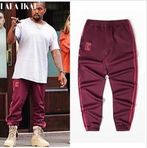 Großhandels-Kanye West Season 4 Crewneck Sweatpants S-3XL CALABASAS Hosen Männer lose Jogger Bequeme Männer elastische Hosen Hip Hop KMK0050-4