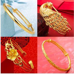 Вьетнамские золотые браслеты с классическими кольцами, ожерельями, серьгами и 18-каратными золотыми украшениями A1