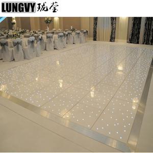 6pcs / lot Fußboden Starlit Led Dance Floor Weiß / Schwarz Led Stern Tanzen Fläche Bühne Hochzeit Tanzfläche Party,
