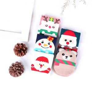 Snowflake Elk Babbo Natale Orso di Natale 1 paio di cotone autunno inverno ragazze ragazzi calzini bambini calzini