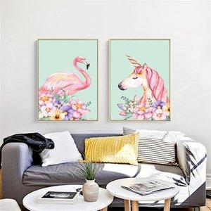 Rahmenlose Quadratkreuzstich Flamingo Einhorn 5D DIY Diamant Malerei Wandbehang Hause Wohnzimmer Dekor 33om3 C