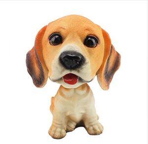 Accessori auto decorazione d'interni Ornamenti per auto Nodding Dog Car Auto Dash Scuotere la testa Dog Styling Toy in resina naturale
