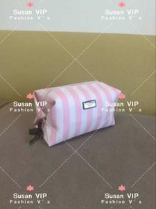Moda Akıllı Çizgili marka kozmetik organizatör çantası V logosu yıkama makyaj çantası moda çanta Kadın Tuvalet Organizatör saklama çantası