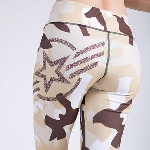 Printed Stretch Sport Leggings Running Tights Fitness Yoga Pant Leggins Gym Sportswear Trousers Women Yoga Clothing