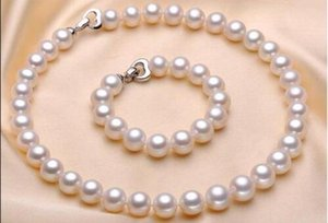 """hot set of 11-12mm south sea round white pearl necklace 18""""&bracelet 7.5-8"""" 925"""