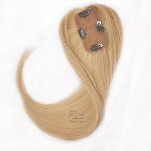Remy Cabello humano Toupee Personalización de acuerdo con sus requisitos Pieza para el cabello Mujer de corte recta con base de seda 2.5 * 5 para cabello fino