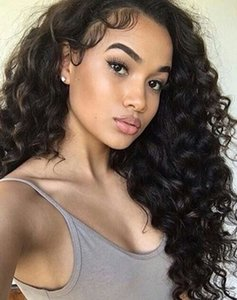 loose wave 360 Lace Frontal Wig 250% Density full natural lace Front Human Hair Wigs For black Women