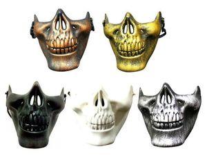 Máscara de CS Holloween Carnaval Presente Crânio Esqueleto Paintball Metade Inferior Da Face máscara de Guerreiros 3 Gerações Máscara Para Máscaras de Festa de Halloween
