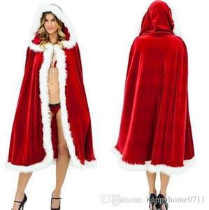 2017 Новый Рождественский красный колпачок с плащом Рождественский Плащ Сценическое Вечеринка Одежда Красный Плащ Temptat сексуальная Косплей Одежда