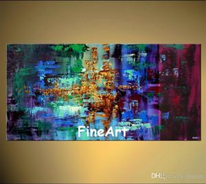 Peint à la main acrylique abstraite couleurs vives peintures à l'huile toile meilleure peinture qualité peinture à l'huile en gros art beauté citations salon d