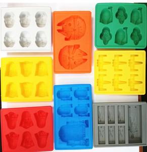 3D-Eiswürfel-Form-Hersteller Stab-Partei-Silikon-Schalen-Kasten Halloween-Kuchen-Süßigkeit-Form-Küche-Werkzeuge Geschenk 8 Farben 15 * 12 * 2cm