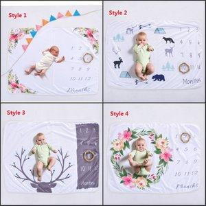 Bebé recién nacido Manta Swaddle Wrap Moda Toallas de Baño Suave Muselina Flor Impresa Manta DIY Bebé Niños Mantas recién nacido