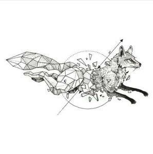 Wasserdichte temporäre Tätowierung Fox Wolf Wölfe Wal Eule geometrische Tier Tatto Flash Tatoo gefälschte Tätowierungen für Mädchen Frauen Mann Kind 7
