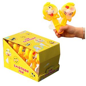 Expression fan Toy,Personal Fan,Interesting Palm Hand Held Fan Pressure Mini Fan Shape Cute Squeeze Toys