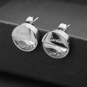 Top uomini deluxe donne mini grande argento diamanti in oro rosa Orecchino Gioielli 3 colori orecchini per le donne gli uomini del partito di vendita di modo estate