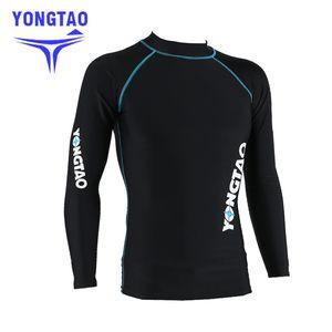 NEW men's rash guard shirt Mens Long Sleeved T-Shirt Swimwear Wakeboard Floatsuit Tops UV Swimming RashGuard Sunscreen Dive suit