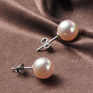 Ball Pearl Stud Earrings Pendientes de diseño 6 mm 8 mm 925 Pendientes de plata esterlina Accesorios de joyería de boda para mujeres Fiesta Regalo de Navidad