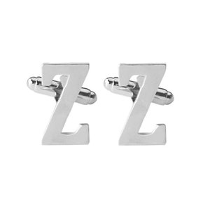 New Arrival 26 Alphabets Classic Men Shirts Cufflinks Jewelry Cuff Links For Wedding Gift Free Shipping