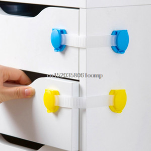2018 4Pcs Plastic Baby Safety Protection Child Locks Cabinet Door Baby Security Lock #K4UE# Drop Ship