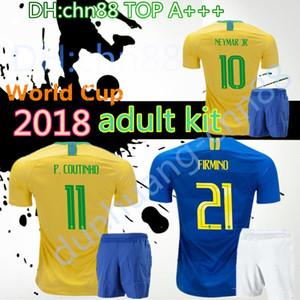 2018 Copa do Mundo Tailândia kit adulto camisas de futebol PELE MARCELO RONALDINHO OSCAR COUTON Soccer Jersey personalizado casa vermelha