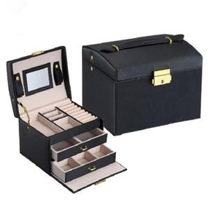 Scatola d'imballaggio della scatola di imballaggio dei gioielli per i gioielli Casella di contenitori dell'organizzatore dei gioielli di caso di trucco squisito dei gioielli Regalo di compleanno di graduazione
