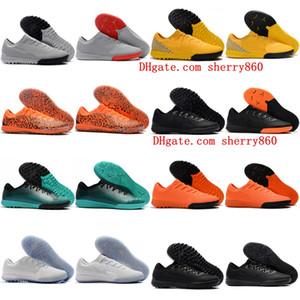 2018 yeni varış erkek futbol ayakkabıları Mercurial VaporX VII Pro TF IC cr7 futbol çizmeler kapalı futbol cleats Mercurial Superfly 360