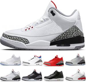 عالية الجودة مصمم 3 رجال أحذية كرة السلة الأزرق سايبر الاثنين النار الأحمر الذئب رمادي أسود اسمنت رجل المدربين الرياضة رياضية رياضية 8-13