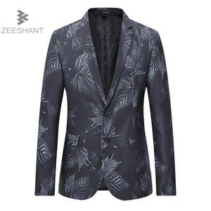 ZEESHANT мужчины пиджак Slim Fit свадьба жених мужской пиджак Masculino Americanas Hombre бизнес повседневный стиль плюс 4XL 5XL