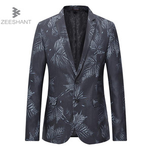 Giacca da uomo ZEESHANT Suit Slim Fit da sposa sposo Blazer da uomo Masculino Americanas Hombre Business Casual Style Plus 4XL 5XL