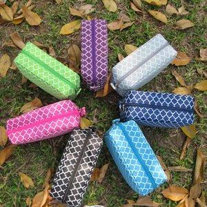 Royalblanks Personalizzato Ladies Quatrefoil Design Cosmetic Bag Sacchetto di trucco in poliestere per regalo di Natale (spedizione gratuita)