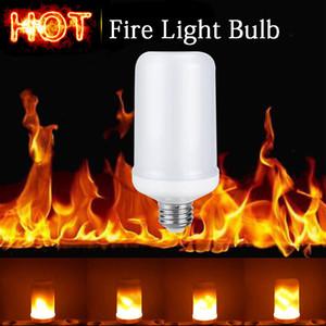 E27 2835 SMD 7.5W LED Chama Efeito Fogo lâmpadas cintilação Emulação Chama decorativa lâmpadas para o Dia das Bruxas do fogo do Natal Luz