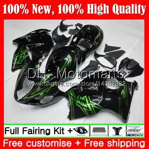 Cuerpo Verde negro Para SUZUKI Hayabusa GSXR1300 96 07 GSXR-1300 56MT05 GSX R1300 2002 2003 2004 GSXR 1300 2005 2006 2007 Fairing Bodywork