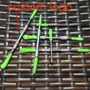 Sıcak Satış Paslanmaz Çelik Balmumu Dabber Araçları Dab Aracı Silikon kapak ile Yeni tasarlanmış Balmumu Atomizer kuru ot vape kalem Titanyum tırnak