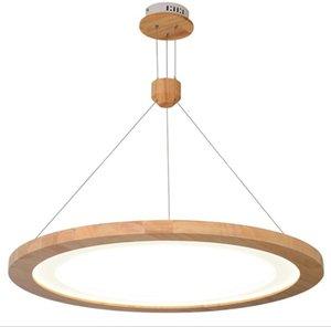 Stile moderno ristorante lampadario in legno massello in stile giapponese lampadario in legno ha portato moderno e minimalista creativo lampada da tavolo sala da pranzo lampLFF