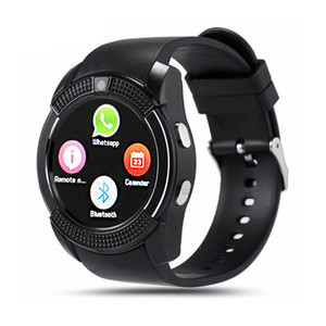 V8 Smart Watch Bluetooth SmartWatch With 0.3M remote control Camera SIM IPS HD Full Circle Display Smart Watch For Android System
