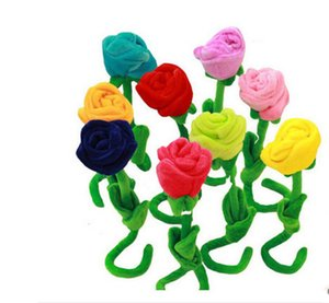 9Pcs Christmas Gift soft plush toy rose flower girls birthday Gift Decoration 30cm