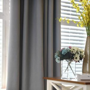 Eco friendly color sólido de imitación de lino cortinas opacas para la vida moderna habitación Cortinas para el dormitorio cortina de la ventana de la cocina Cortinas Persianas