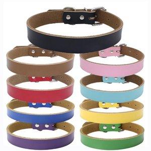Sıcak satış Köpek aksesuarları Gerçek Inek Derisi Deri Köpek Tasması leashes çoklu renkler 4 boyutları Toptan Ücretsiz kargo