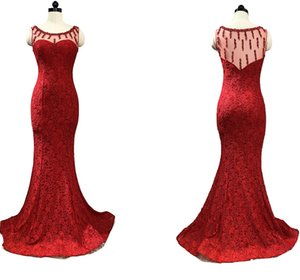 Fashion Women Wine Red Prom Dress Sexy South African Lace Beaded Burgundy Long Formal Evening Party Gown Plus Size