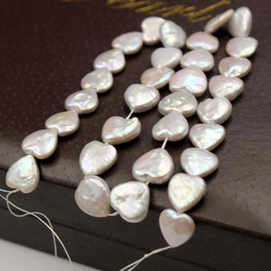 100% perles d'eau douce naturelles en forme de coeur perle baroque pour femmes boucles d'oreilles bricolage racelet collier mode bijoux cadeau de Noël