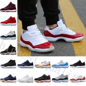 2018 New Barato XI Elite Sapatos de Basquete Homens 11 Sneakers Alta Qualidade Online Original Desconto Ginásio Vermelho Meia-calça Marinha Calçados Esportivos EUA 5.5-13