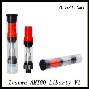 Itsuwa AMIGO Liberty V1 Pyrex 유리 분무기 510 실 Wee Vaporizer Vape 펜 E 담배 BUD Touch Wee 금속 팁 카트리지 DHL 0266174-1
