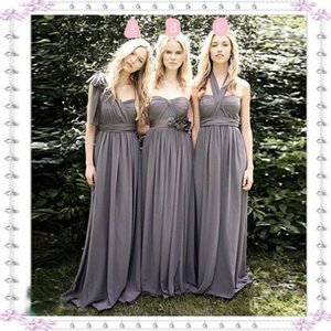 Convertible Long Bridesmaid Dresses Sexy Mixed Styles Chiffon Party Dresses For Maid of Honor Custom Made Evening Gowns Long Prom Dress