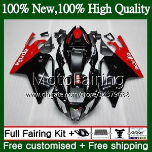 Corps Rouge Noir Pour Aprilia RSV1000R Mille RSV1000 RR 03 04 05 06 03 06 2MF2 RSV 1000R 2003 2004 2005 2006 RSV1000RR Carrosserie Chaude