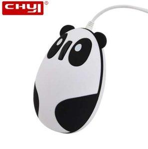 NEUE CHYI Wired Panda Maus Ergonomische 1600 DPI USB Kabel Kawaii Anime KungFu Panda Bär Katze Optische Spiel Mäuse Für PC Laptop Desktop