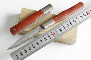 Sıcak Kelebek Şam kalem VG10 Şam desen VG10 Şam Çelik Kamp avcılık vahşi hediye bıçak ücretsiz kargo 1 adet