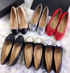Clásico de las mujeres mocasines de cuero de becerro Tweed Ballerinas 11 colores mujer Bowtie Ballet pisos zapatillas de gran tamaño 34-42