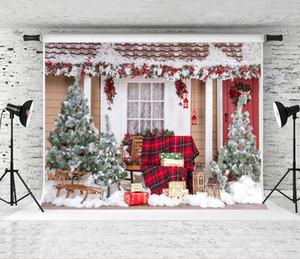 Telón de fondo sueño 7x5ft de Navidad para la fotografía al aire libre Casa de Fondo Prop Niños Fondos rodaje de Navidad de la familia Estudio